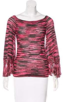 Missoni Open Knit Fringe-Accented Top