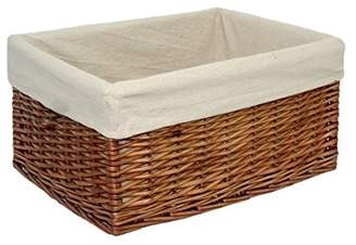 Small Lined Double Steamed Storage Basket