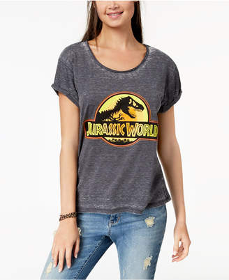 Freeze 24-7 Juniors' Jurassic World Graphic-Print T-Shirt