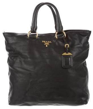 Prada Leather Top Handle Satchel