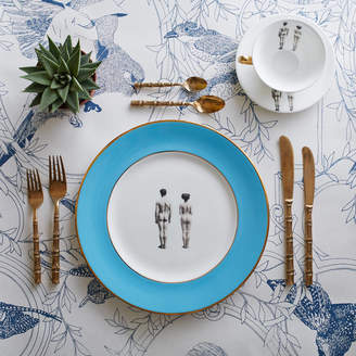 Melody Rose Models Blue Bone China Dinner Plate