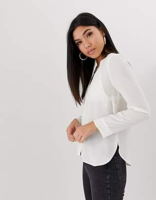 Asos Design DESIGN long sleeve v neck blouse