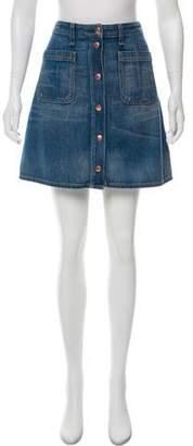 Rag & Bone Denim Mini Skirt