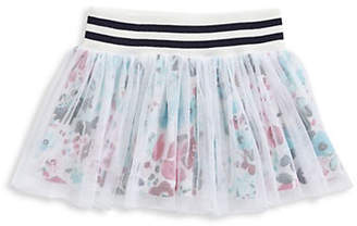 Splendid Little Girl's Floral Underlay Tutu Skirt