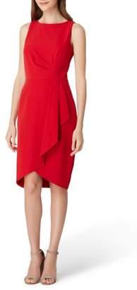Tahari Ruched Side Crepe Sheath Dress