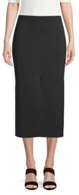 Proenza Schouler Midnight Double-Slit Skirt