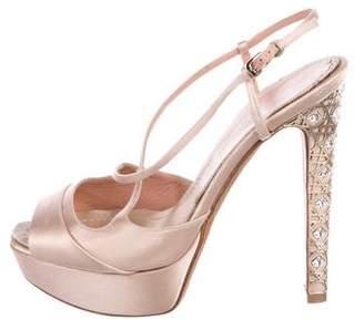 Christian Dior Satin Platform Sandals