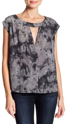 Acrobat Front Cutout Silk Marble Tee