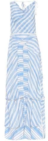 Gaeta striped silk dress