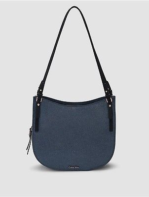 Calvin Klein Calvin Klein Womens Nadina Triple Compartment Hobo Faded Blue