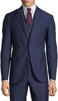 Neiman Marcus Men's Mini Box Weave Vested 3-Piece Suit
