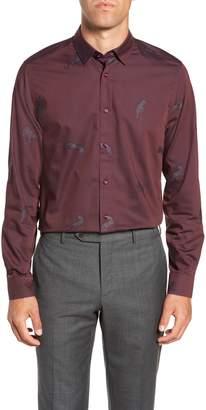 Ted Baker Bean Modern Fit Print Dress Shirt
