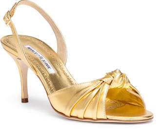 Manolo Blahnik Mumuyesli 70 nappa light gold sandal