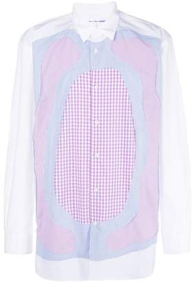 Comme des Garcons patchwork collared shirt