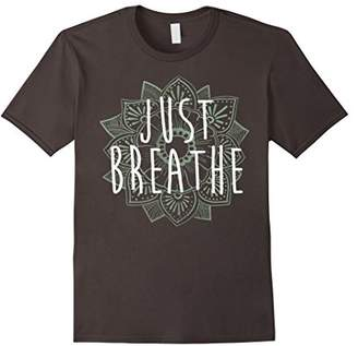 Just Breathe Henna Flower Yoga Graphic T-Shirt