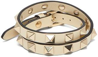 Valentino Rockstud wraparound leather bracelet