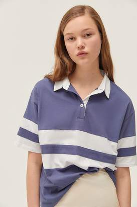 Truly Madly Deeply Oversized Striped Polo Shirt