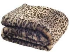 Safavieh Faux Fur Leopard-Printed Throw