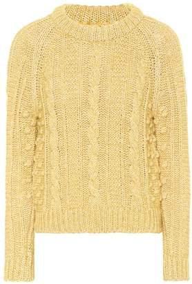 ALEXACHUNG Cotton and wool-blend sweater