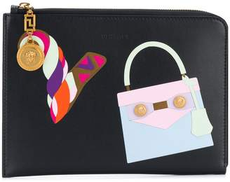 Versace printed clutch bag
