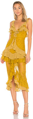 For Love & Lemons Daphne Lace Midi Dress