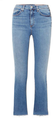 Rag & Bone Hana Cropped High-rise Bootcut Jeans - Mid denim