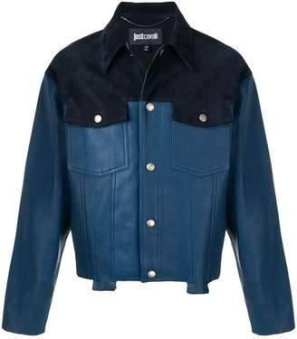 Just Cavalli contrast biker jacket