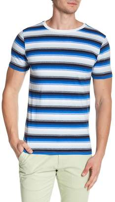 Knowledge Cotton Apparel Narrow Stripe Print Tee