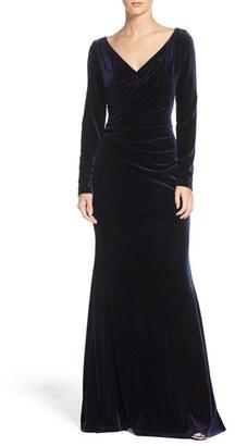 Women's Vince Camuto Velvet Gown $208 thestylecure.com