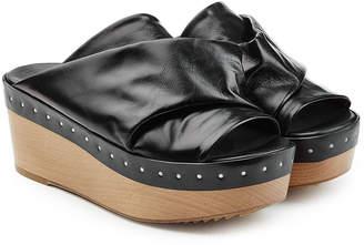 Rick Owens Embellished Leather Wedges