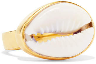 Puka Tohum Gold-plated And Shell Ring