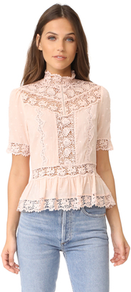 Rebecca Taylor Short Sleeve Eyelet Top $350 thestylecure.com