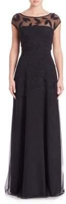 Chiara Boni Top Leaf Floor-Length Gown