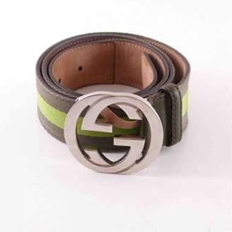 Gucci Interlocking Buckle leather belt
