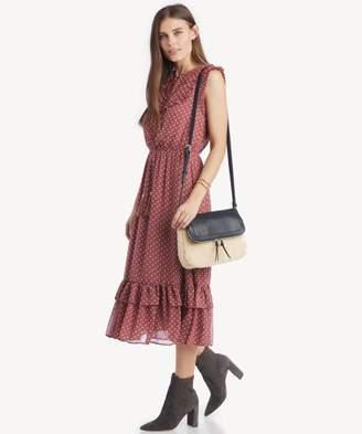 Sole Society Ruffle Detailed Midi Dress