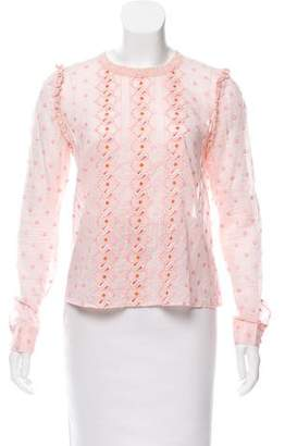 Manoush Embroidered Long Sleeve Top