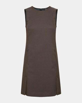 Theory Jacquard Vented Front Shift Dress
