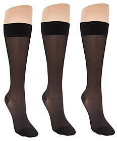 Legacy Sheer Graduated Compression Socks Setof 3