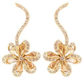 Oscar de la Renta Embellished floral earrings