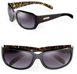 Nine West 63mm Inner Dot Oval Sunglasses