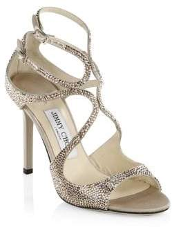Jimmy Choo Lang Metallic Embellished Heels