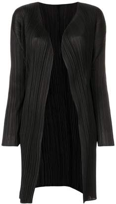 Pleats Please Issey Miyake pleated fitted cardigan