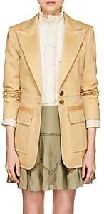 Chloé Women's Topstitched Cotton Gabardine Jacket - Camel