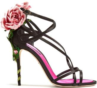 Dolce & Gabbana Rose-heel satin sandals