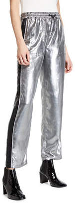 Rag & Bone Sloane Metallic Side-Stripe Track Pants