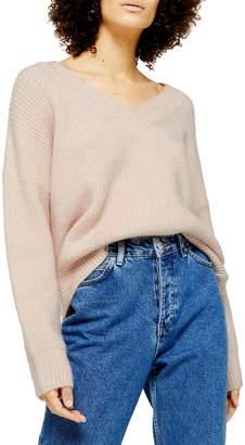 Topshop Knitted Super Soft V-Neck Sweater