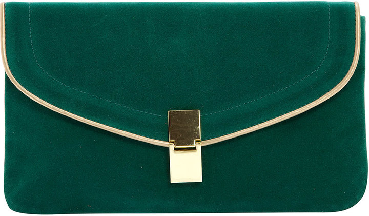 Green patent piped clutch