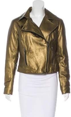 Lauren Ralph Lauren Metallic Leather Jacket