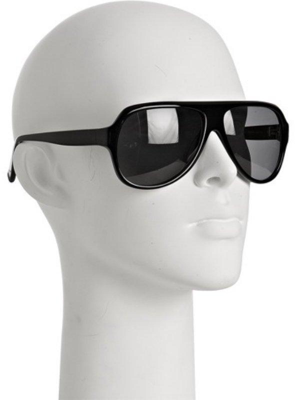 Fabien Baron black shiny aviator sunglasses