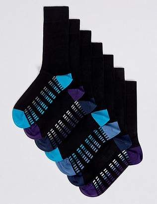 Marks and Spencer 7 Pack Cotton Rich Cool & FreshfeetTM Socks